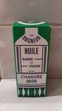 LE BAIGNEUR - Chanvre raisin - Huile barbe et visage