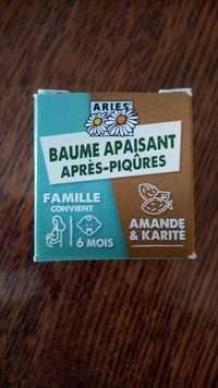 ARIES - Amande & karité - Baume apaisant après-piqûres