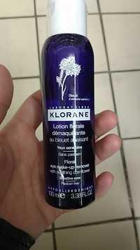 KLORANE - Lotion florale démaquillante au bleuet apaisant