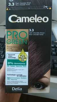 DELIA COSMETICS - Cameleo pro green - Permanent hair color cream 3.3 brun chocolat foncé