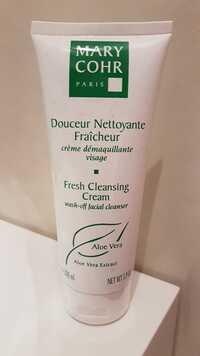 MARY COHR - Douceur Nettoyante Fraîcheur - Crème démaquillante