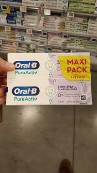 ORAL-B - Pure activ - Soin essentiel, soin émail