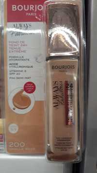 Bourjois - Always fabulous - Fond de teint 24H 200 vanille rosé