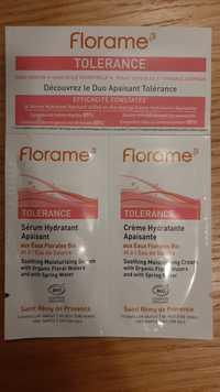 FLORAME - Tolerance - Sérum et crème hydratant apaisant