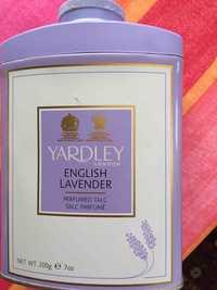 YARDLEY - English lavender - Talc parfumé