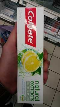 COLGATE - Dentifrice natural extracts à l'huile de citron et extrait d'aloe vera
