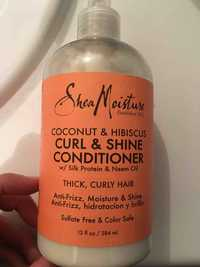 SHEA MOISTURE - Coconut & hibiscus - Curl & shine conditioner