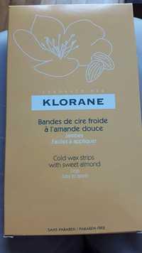 KLORANE - Bandes de cire froide à l'amande douce