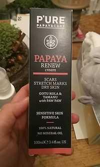 P'URE Papayacare - Papaya renew cream - Scars stretch marks dry skin