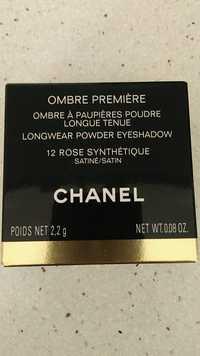 Chanel - Ombre première - Ombre à paupières poudre 12 Rose synthétique satiné