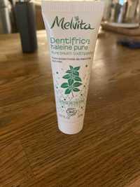 MELVITA - Dentifrice haleine pure Arôme de menthe