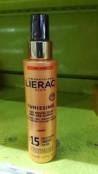 LIÉRAC - Sunissime - Lait protecteur anti-âge global SPF 15