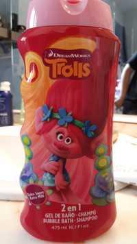 Lorenay - Trolls - 2 en 1 Bubble bath shampoo