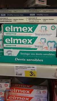 Elmex - Sensitive - Dentifrice au fluorure d'amines olafluor