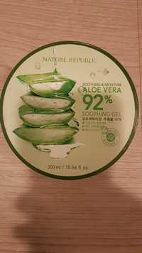 NATURE REPUBLIC - Aloe vera 92% - Soothing & moisture gel