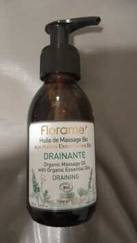 FLORAME - Drainante - Huile de massage bio