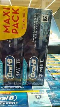 ORAL-B - 3D white - Dentifrice doux pour l'émail
