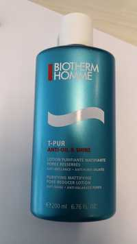 Biotherm - Homme T-Pur anti-oil & shine - Lotion
