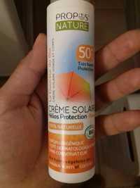 Propos'Nature - La douceur du bio - Crème solaire visage et corps 50+ SPF