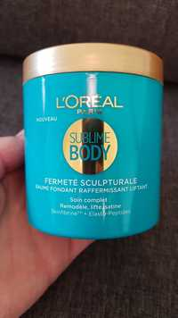L'Oréal - Sublime body - Baume fondant raffermissant liftant