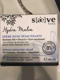 Saève - Hydra Malva - Crème riche désaltérante