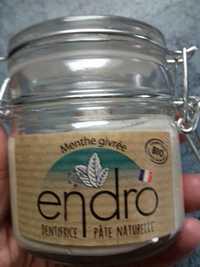 ENDRO - Dentifrice pâte naturelle menthe givrée