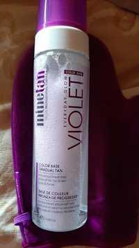MINETAN - Violet - Base de couleur bronzage progressif
