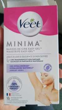 Veet - Minima - Bandes de cire easy-gel