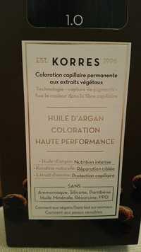 KORRES - Huile d'argan - Coloration capillaire permanente