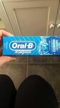 Oral-B - Complete Tandpasta + mondwater