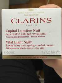 CLARINS - Capital lumière nuit - Soin confort anti-âge revitalisant