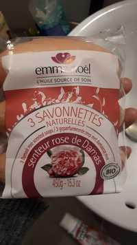 EMMA NOËL - 3 savonettes naturelles senteur rose de damas