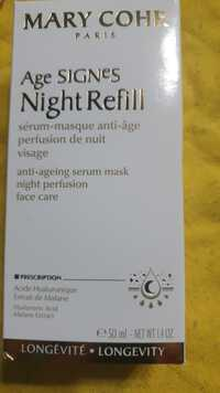 MARY COHR - Age signes night refill