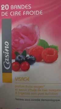 CASINO - 20 bandes de cire froide pour le visage