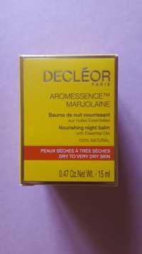 Decléor - Aromessence marjolaine - Baume de nuit nourrissant