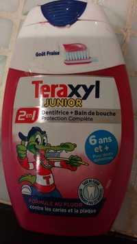 TERAXYL - Junior - Dentifrice + Bain de douche - 2 en 1 - Goût fraise