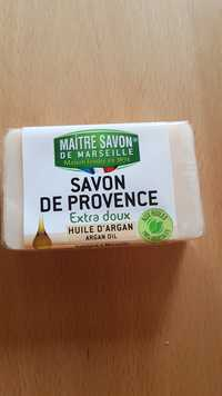 MAÎTRE SAVON DE MARSEILLE - Savon de Provence extra doux huile d'argan