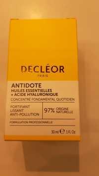 Decléor - Antidote - Huiles essentielles + acide hyaluronique
