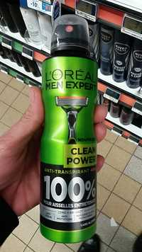 L'Oréal - Men Expert - Clean power anti-transpirant