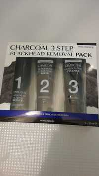 CHARCOAL - Charcoal 3 step - Blackhead removal pack