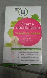 By U - Crème décolorante visage & corps à l'extrait d'aloé vera