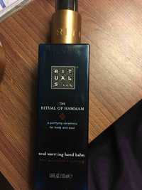 RITUALS - The ritual of hammam - Soul warring hand balm