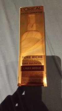L'ORÉAL - Haute expertise Pure riche - L'huile absolue