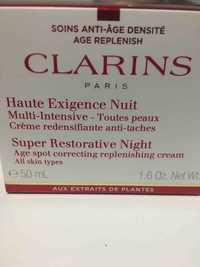 CLARINS - Soins anti-âge densité - Haute exigence nuit