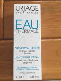 Uriage - Eau thermale - Crème d'eau légère