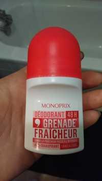 MONOPRIX - Déodorant 48 h grenade fraîcheur