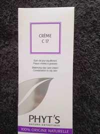 Phyt's - Crème C17 - Soin de jour équilibrant 100% origine naturelle