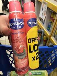 Monsavon - Pierre d'alun - Déodorant lait grenade & fleur d'hibiscus