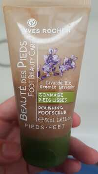 gommage pieds yves rocher