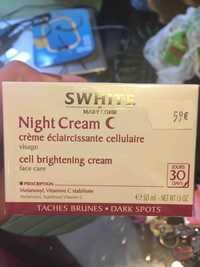 MARY COHR - Swhite - Night cream c pour visage